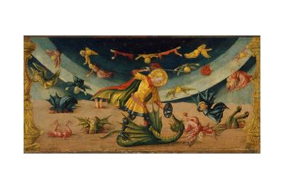 Saint Michael and the Dragon Giclee Print by Neri Di Bicci