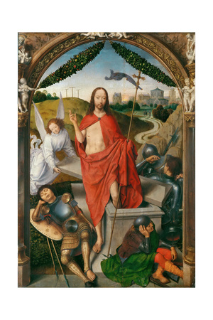 Triptych of the Resurrection Giclee Print by Hans Memling