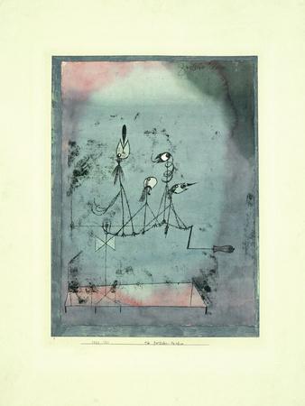 Twittering Machine Giclée-tryk af Paul Klee