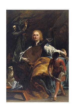 Portrait of Count Fulvio Grati Giclee Print by Giuseppe Maria Crespi
