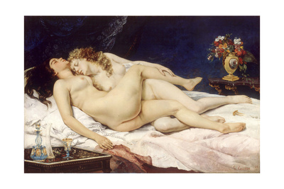 The Sleepers (Le Sommei) Giclee Print by Gustave Courbet