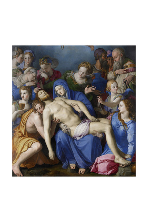 The Descent from the Cross Giclée-tryk af Agnolo Bronzino