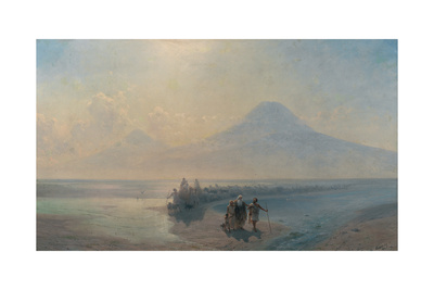 The Descent of Noah from Mount Ararat Giclee Print by Ivan Konstantinovich Aivazovsky
