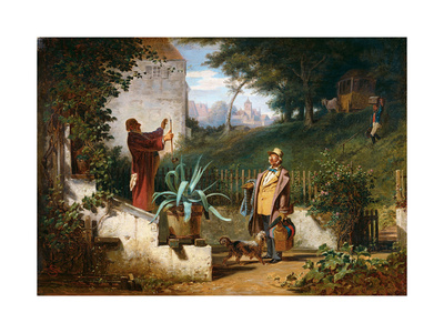 Childhood Friends Giclee Print by Carl Spitzweg