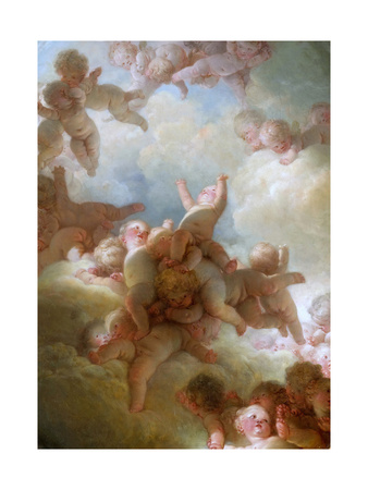 The Swarm of Cupids Giclee Print by Jean-Honoré Fragonard
