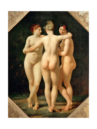 The Three Graces Giclee Print by Jean-Baptiste Regnault