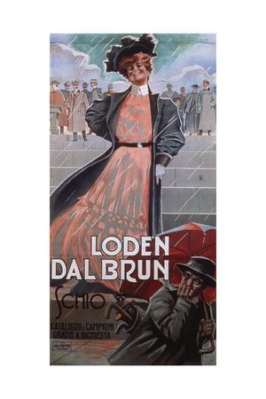 Loden Dal Brun, 1900s Giclee Print by Aleardo Villa