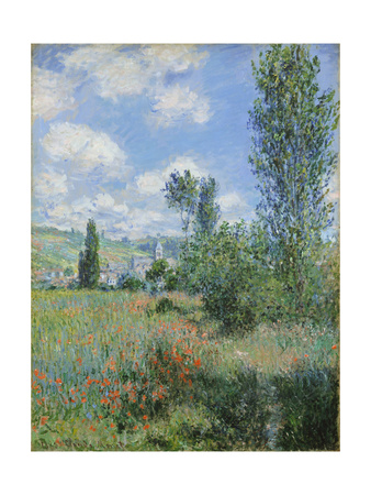 View of Vétheuil Giclee Print by Claude Monet