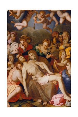 The Descent from the Cross, 1553 Giclée-tryk af Agnolo Bronzino
