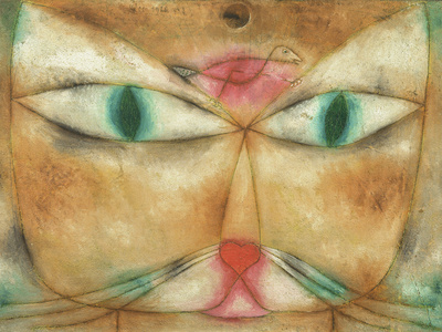 Cat and Bird Giclee Print by Paul Klee