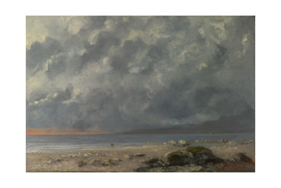 Beach Scene Giclee Print by Gustave Courbet