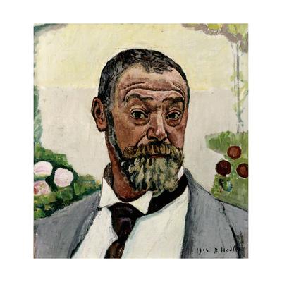 Self-Portrait Gicléetryck av Ferdinand Hodler