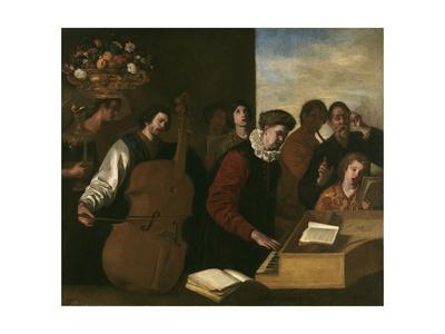 Concert Giclée-tryk af Aniello Falcone