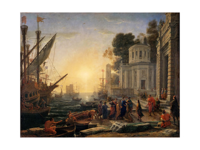 The Disembarkation of Cleopatra at Tarsus Giclee Print by Claude Lorrain