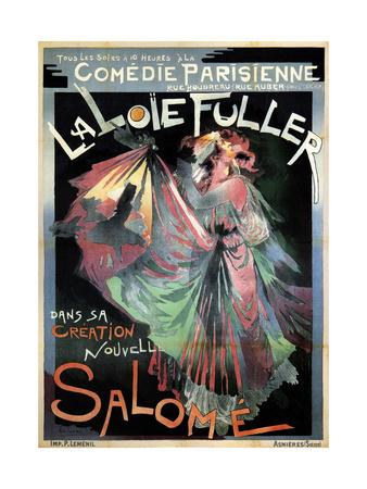 Loïe Fuller as Salomé, 1895 Giclee Print by Georges de Feure