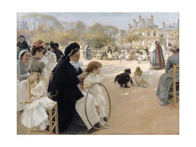 The Luxembourg Gardens, Paris Giclee Print by Albert Gustaf Aristides Edelfelt