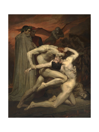 Dante and Virgil in Hell Giclee Print by William-Adolphe Bouguereau