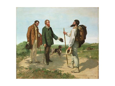Bonjour, Monsieur Courbet Giclee Print by Gustave Courbet
