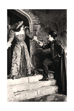 Julia Neilson and Fred Terry in a Scene from Dorothy O' the Hall, Early 20th Century Giclee Print by  Ellis & Walery