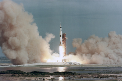 The Lift Off of Apollo 15, Kennedy Space Center, Florida, USA, 1971 Photographic Print