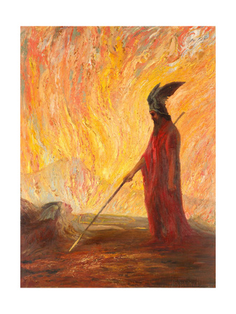 Wotan's Farewell and Magic Fire Giclee Print by Hermann Hendrich