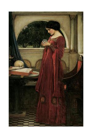 The Crystal Ball Giclee Print by John William Waterhouse
