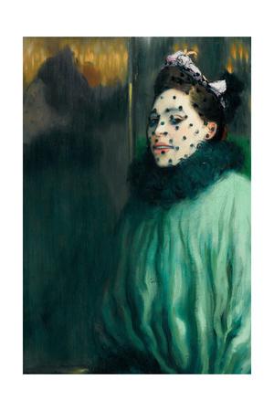Woman with Veil (Femme À La Voilett) Giclee Print by Louis Anquetin