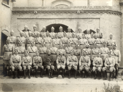 Shahpur District Police Officers Group, India, 1937-1938 Photographic Print by  Mool & Son Chand