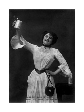 Eva Moore as 'Kathie' in Boys, First Come, First Served, 1903 Giclee Print by  Ellis & Walery
