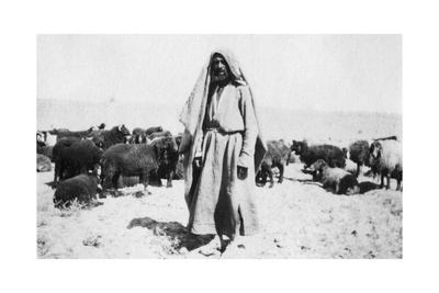 Arab Shepherd, Kazimain Area, Iraq, 1917-1919 Giclee Print
