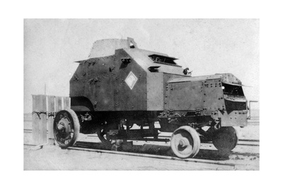 Armored Car on Rails, Baghdad, Iraq, 1917-1919 Giclee Print