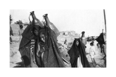 Female Water Carriers, Amarah, Iraq, 1917-1919 Giclee Print