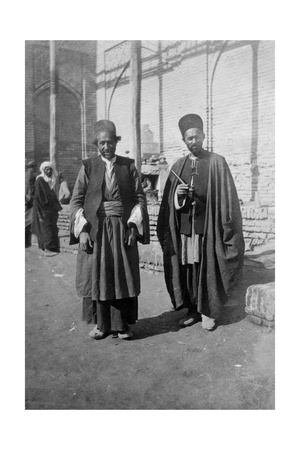Persian Pilgrims Outside Kazimain Mosque, Iraq, 1917-1919 Giclee Print