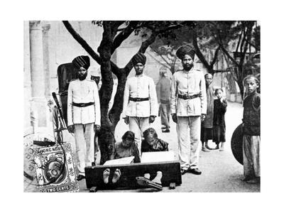 Children in the Stocks, Hong Kong, 1908 Giclee Print