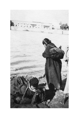 Bhistis or Water Carriers, Basra, Iraq, 1917-1919 Giclee Print