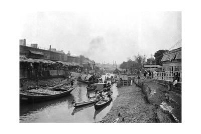 Scene from Whitely Bridge, Ashar, Iraq, 1917-1919 Giclee Print