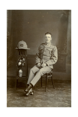 Studio Portrait of a Soldier of C Company, 2nd Battalion the King's Regiment, Iraq, 1926 Giclee Print