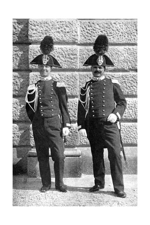 Two Italian Policemen, 1922 Giclee Print by Donald Mcleish