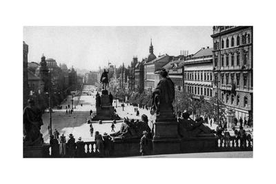 Wenceslas Square and Statue of St Wenceslas, Prague, Czechoslovakia, C1930S Giclee Print by D Heathcote