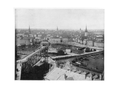 Panorama of Stockholm, Sweden, Late 19th Century Giclee Print by John L Stoddard
