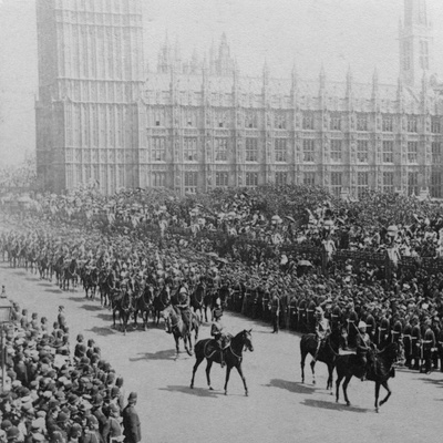 Canadian Mounted Troops, Procession for Queen Victoria's Diamond Jubilee, London, 1897 Photographic Print by James M Davis
