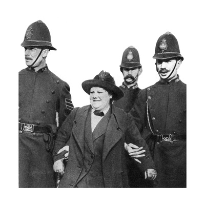 Mrs Flora Drummond, Arrested in Hyde Park, London, 1914 Giclee Print