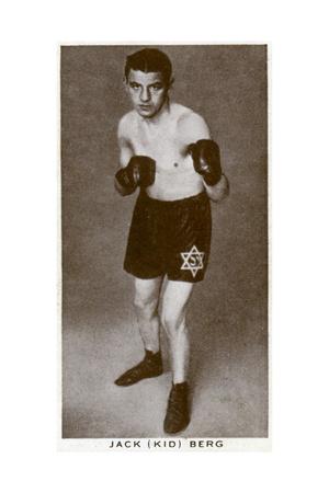 Jack 'Kid' Berg, English Boxer, 1938 Giclee Print