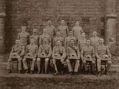 The Regimental Police of the 1st Royal Munster Fusiliers, Rangoon, Burma, 1913 Photographic Print