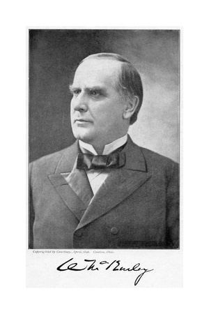 William Mckinley, 25th President of the United States, 1896 Giclee Print