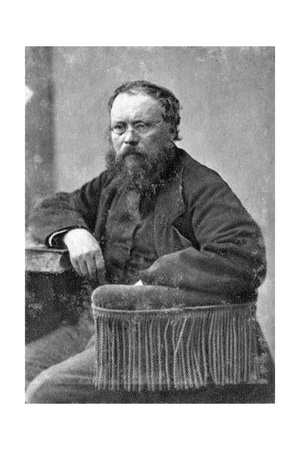 Pierre Joseph Proudhon, French Mulualist Political Philosopher, C1845-1868 Giclee Print