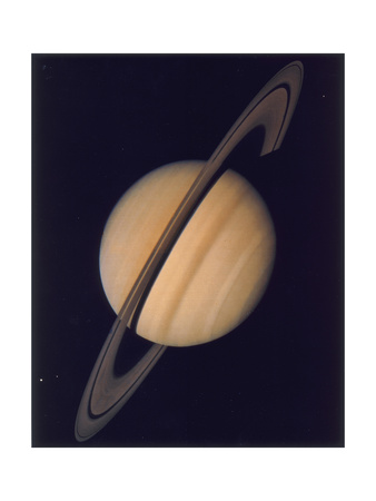 Full View of Saturn and Her Rings, 1980 Giclee Print