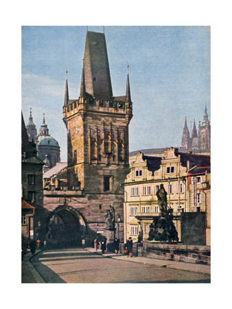 The Old Town End of the King Charles Bridge, Prague, Czech Republic, 1943 Giclee Print