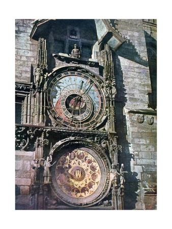 Astronomical Clock, Old Town Hall, Prague, Czech Republic, 1943 Giclee Print