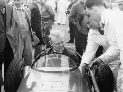 Mike Hawthorn During the International Trophy at Silverstone, Northamptonshire, 1955 Photographic Print
